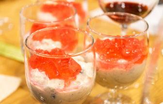 黒豆の赤ワイン煮の自家製豆乳ヨーグルト